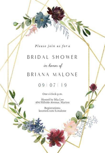 Wedding Shower Invitation Templates Bridal Shower Invitation Templates Free
