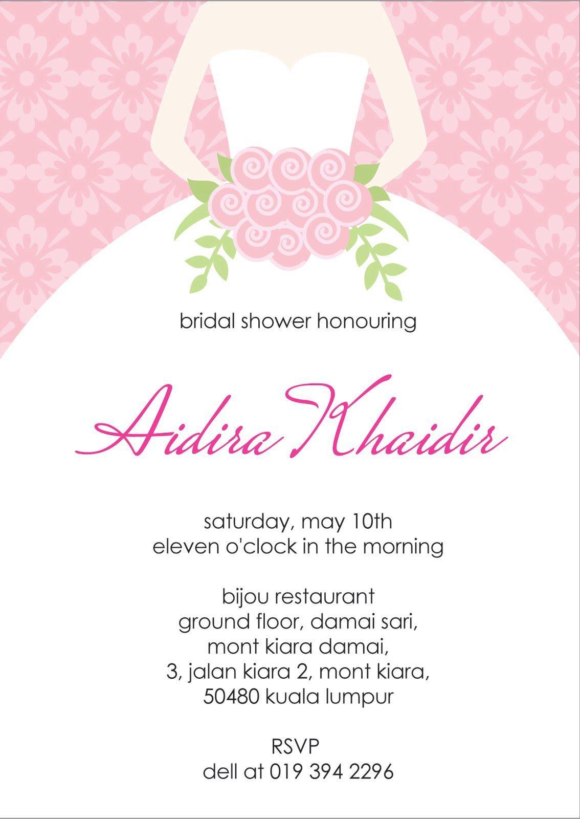 Wedding Shower Invitation Templates Bridal Shower Invitation Verbiage Bridal Shower