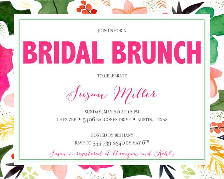 Wedding Shower Invitation Templates Bridal Shower Invitation Wording Ideas and Etiquette