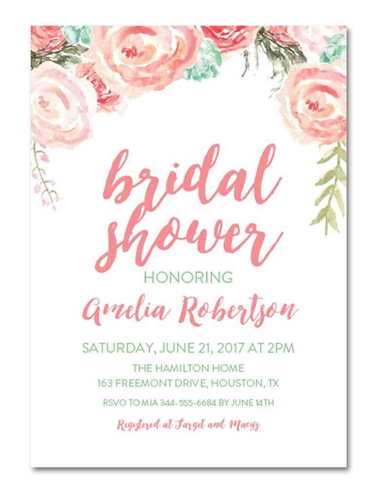Wedding Shower Invitation Templates Printable Bridal Shower Invitations You Can Diy