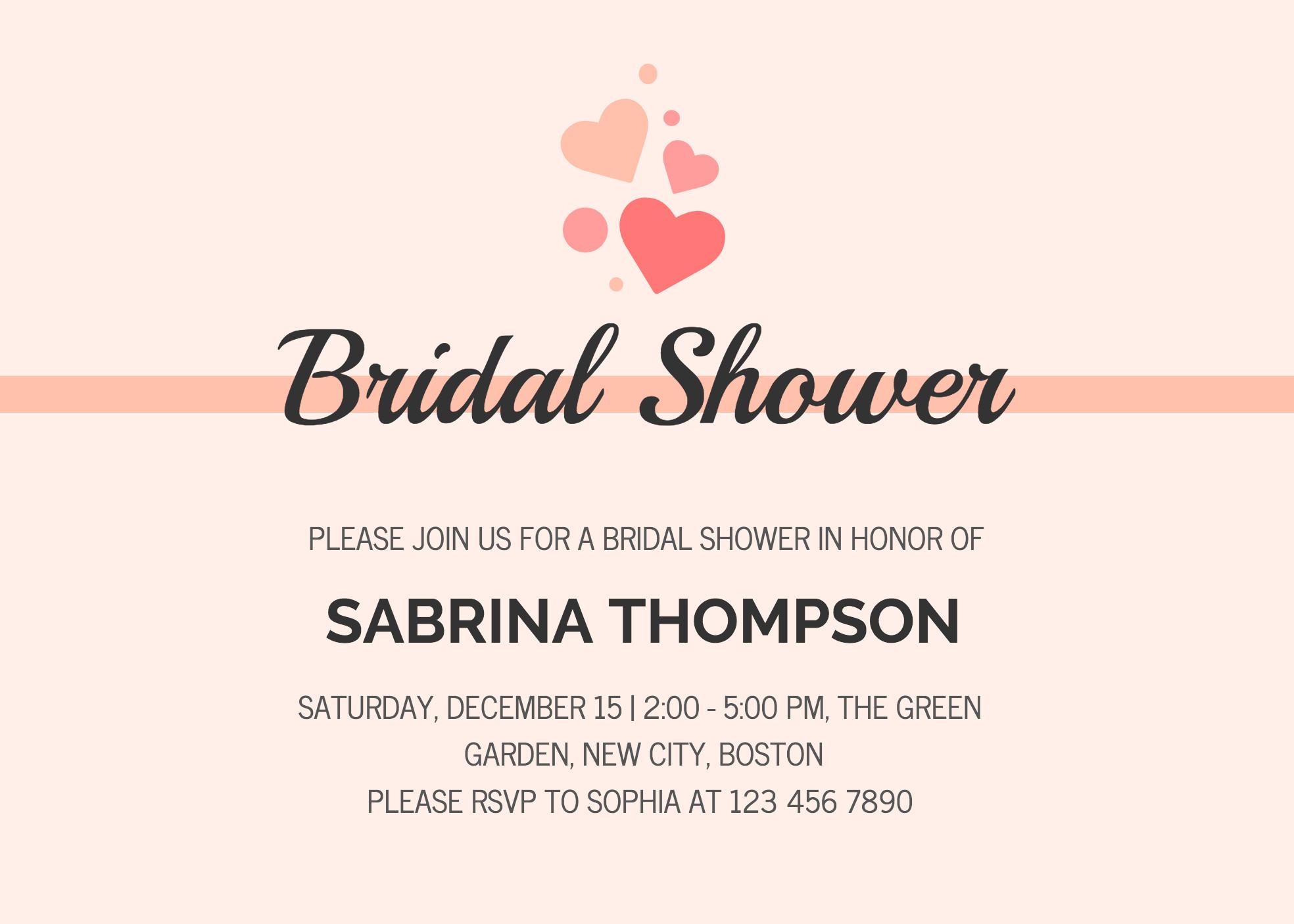 Wedding Shower Invite Templates 19 Diy Bridal Shower and Wedding Invitation Templates