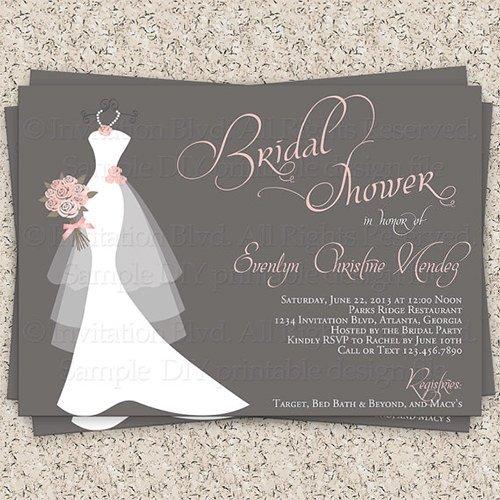Wedding Shower Invite Templates 33 Psd Bridal Shower Invitations Templates