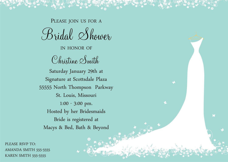 Wedding Shower Invite Templates Bridal Shower Invitation Bride