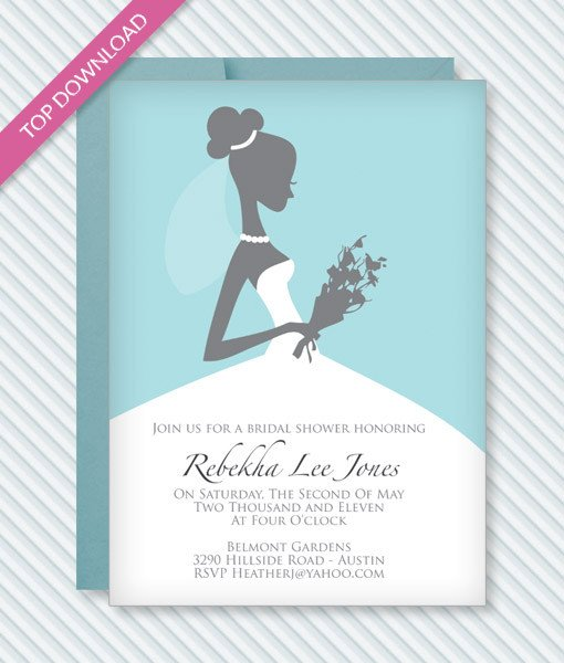 Wedding Shower Invite Templates Bridal Shower Invitation Template – Download & Print