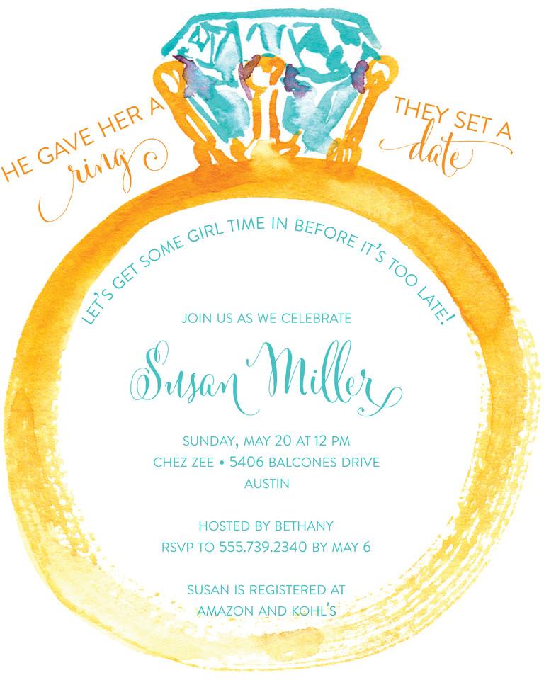 Wedding Shower Invite Templates Bridal Shower Invitation Wording Ideas and Etiquette