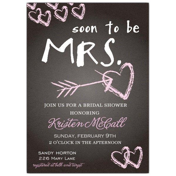 Wedding Shower Invite Templates Chalkboard Love Bridal Shower Invitations