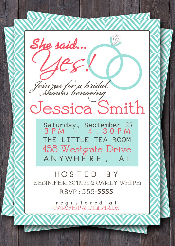 Wedding Shower Invite Templates Items Similar to Wedding Shower Invitation Invite Bridal