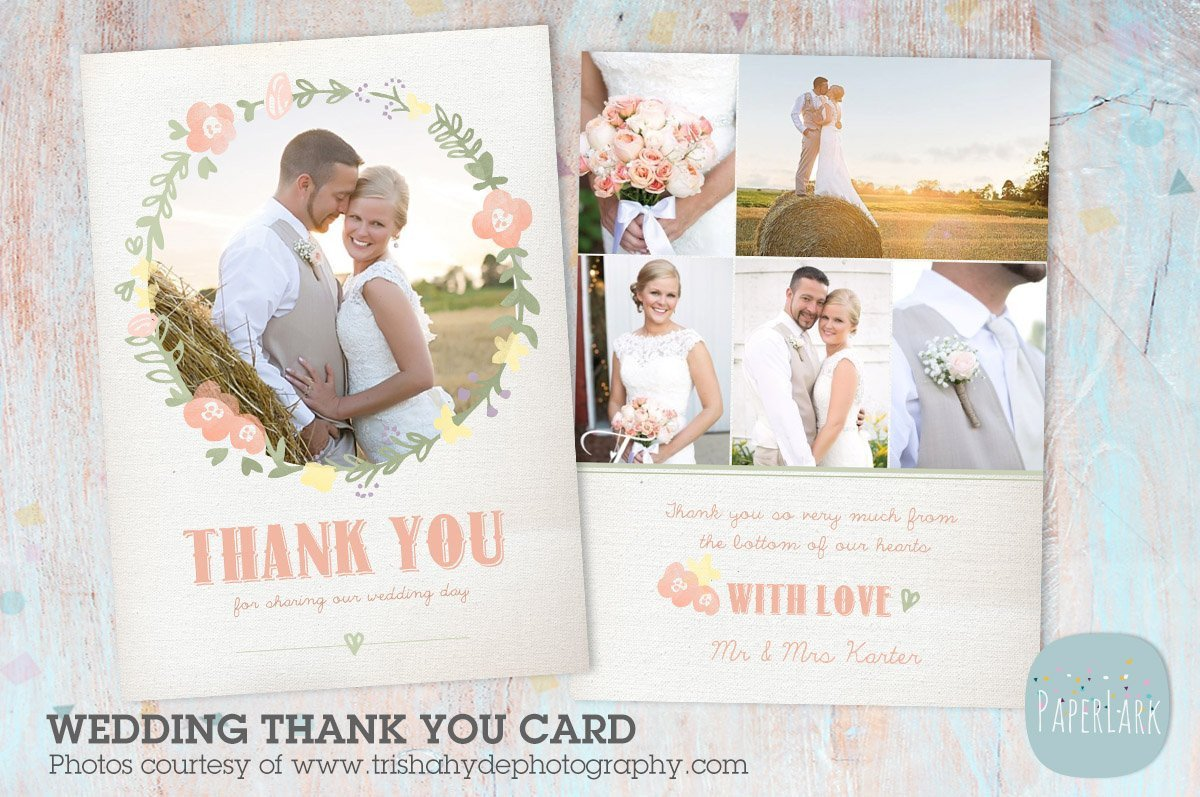 Wedding Thank You Cards Template Aw014 Wedding Thank You Card Postcard Templates