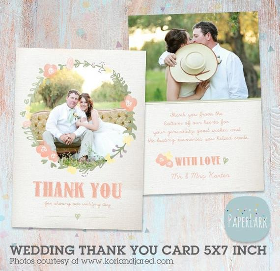 Wedding Thank You Cards Template Wedding Thank You Card Shop Template Aw008 Instant