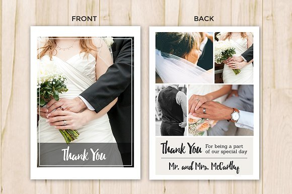 Wedding Thank You Cards Template Wedding Thank You Card Template Flyer Templates
