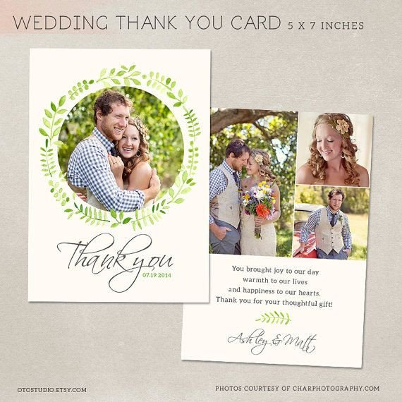 Wedding Thank You Cards Template Wedding Thank You Card Template for Graphers Psd