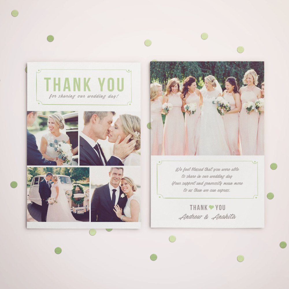 Wedding Thank You Cards Template Wedding Thank You Card Template for Graphers Wedding