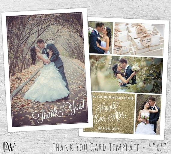 Wedding Thank You Cards Template Wedding Thank You Card Template Shop Template