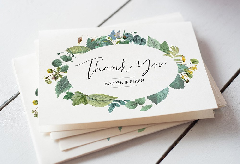 Wedding Thank You Cards Template Wedding Thank You Card Wording 4 Super Easy Templates