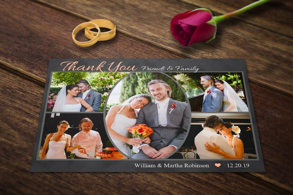 Wedding Thank You Cards Template Wedding Thank You Cards Template Psd Postcard Templates