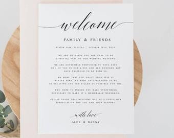 Wedding Welcome Letter Template Template
