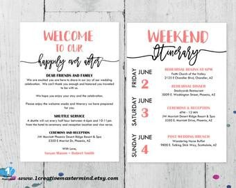Wedding Welcome Letter Template Wedding Templates