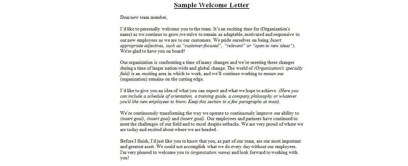 Wedding Welcome Letter Template Wedding Wel E Letter Sample
