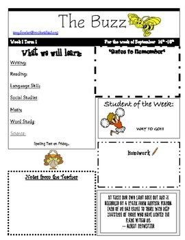Weekly Classroom Newsletter Template 25 Best Weekly Newsletter Ideas On Pinterest