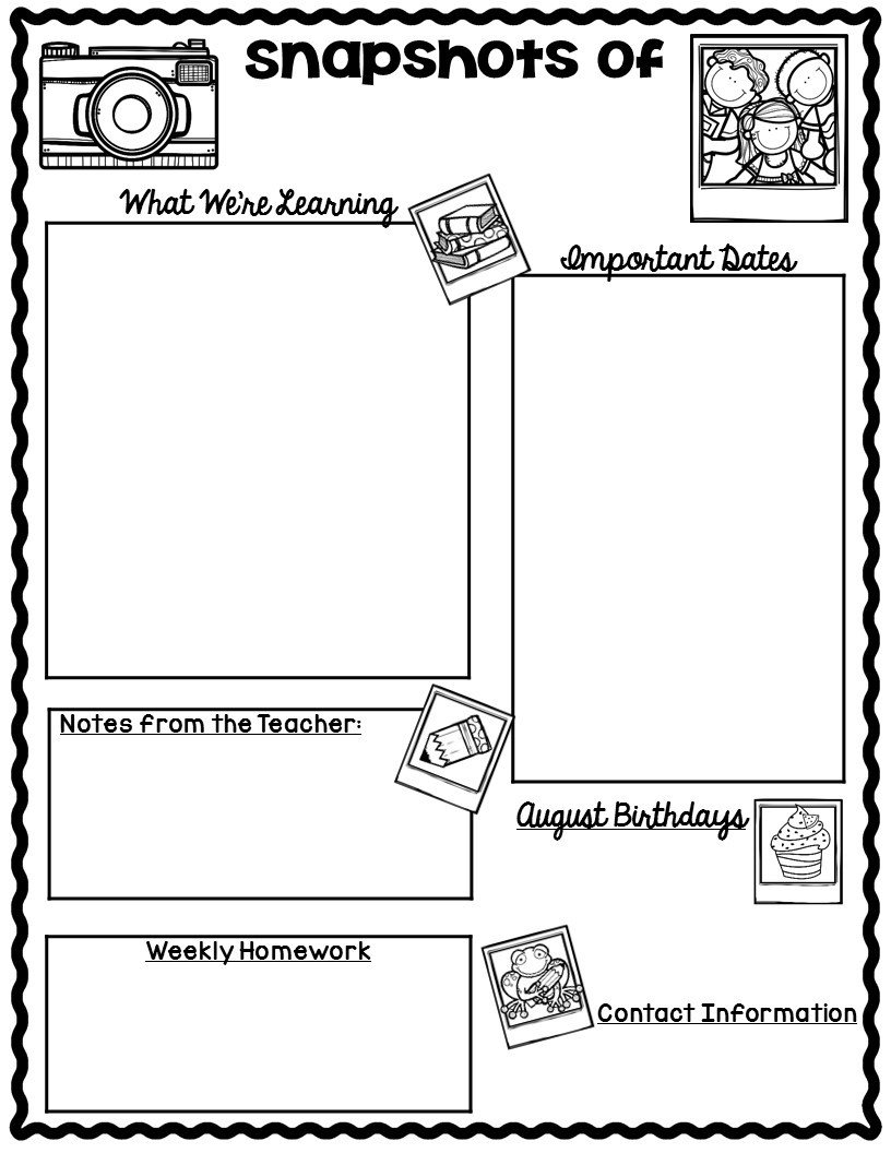 Weekly Classroom Newsletter Template the Teaching Oasis Monthly Calendars and Newsletter