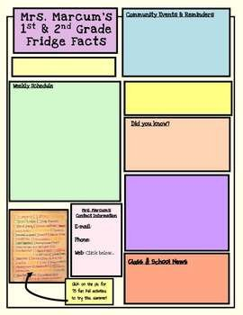 Weekly Classroom Newsletter Template Weekly Newsletter Template Editable by Mrs Marcum S