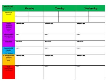 Weekly Lesson Plan Template Free Weekly Lesson Plan Template and Teacher Resources