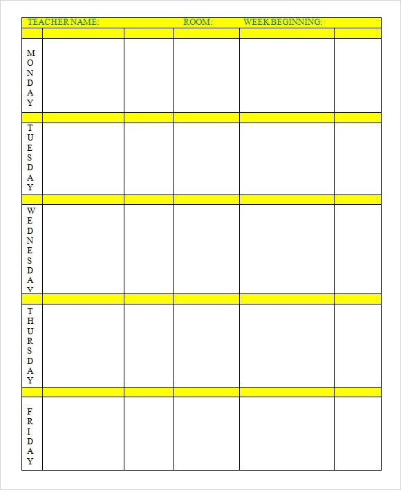 Weekly Lesson Plan Template Sample Weekly Lesson Plan 7 Documents In Word Excel Pdf