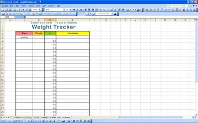 Weight Loss Tracker Template Excel Templates