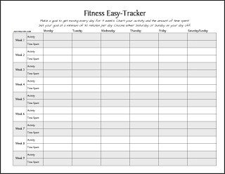 Weight Loss Tracker Template Free Printable Fitness Easy Tracker Track Your Activity