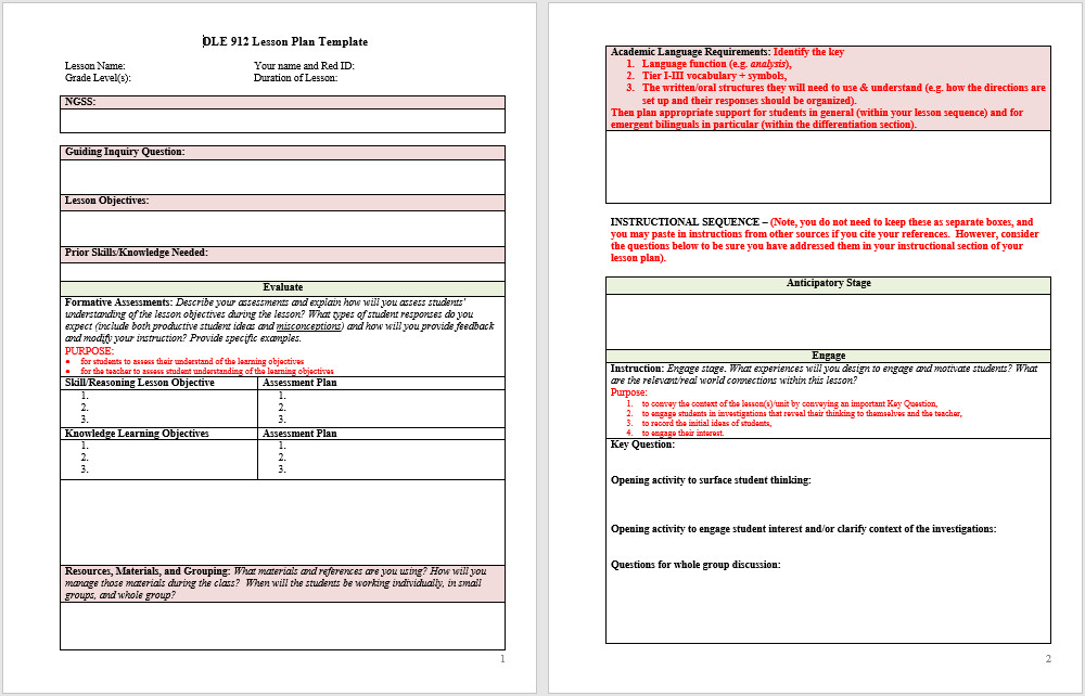 39 Free Lesson Plan Templates MS Word and PDFs