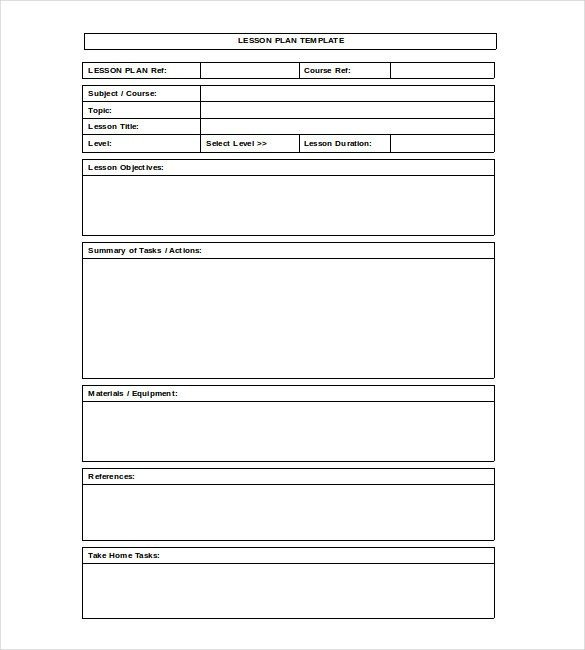 Word Lesson Plan Template Blank Lesson Plan Template – 15 Free Pdf Excel Word