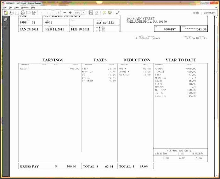 Word Pay Stub Template 6 Free Pay Stub Template In Word Sampletemplatess