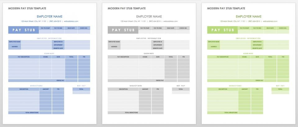 Word Pay Stub Template Free Pay Stub Templates
