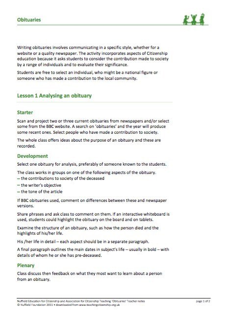 Writing An Obituary Template 25 Free Obituary Templates and Samples Free Template