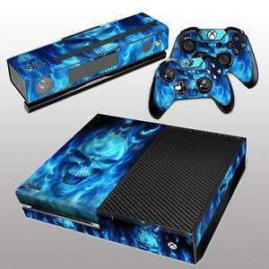 Xbox One Console Skin Template New Fire Skull Skin Sticker for Xbox E Console Kinect 2