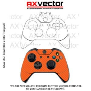 Xbox One Console Skin Template Ps4 Controller Vector Template