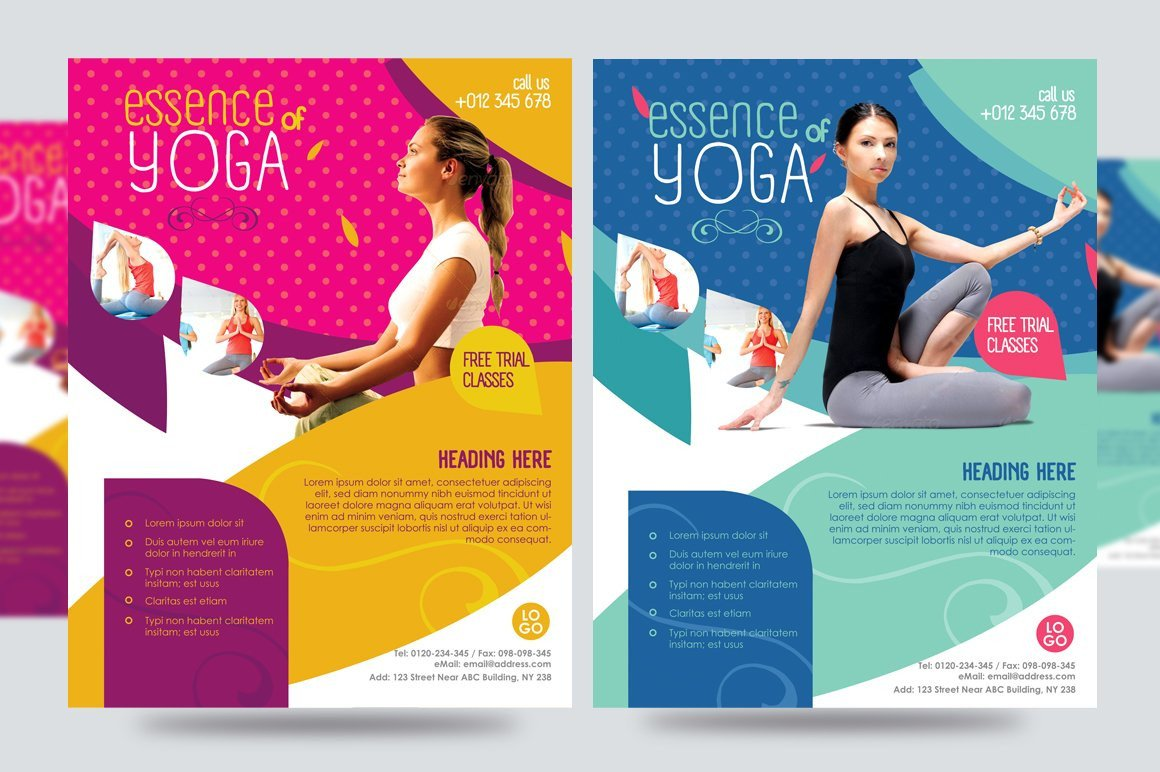 Yoga Flyer Fitness Flyer V1 Flyer Templates Creative