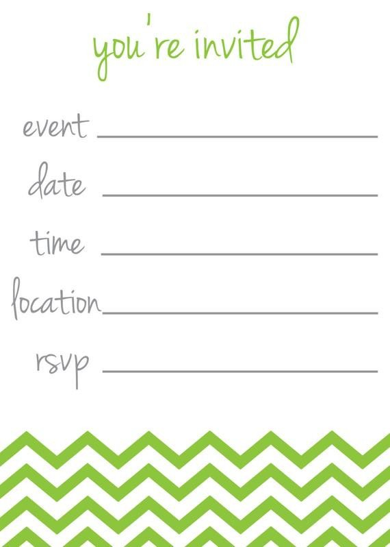 "You are Invited Template Items Similar to Chevron Stripe ""you Re Invited"