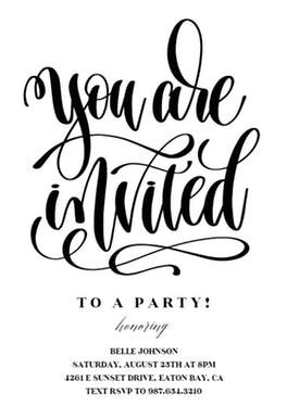 You are Invited Template You are Invited Free Party Invitation Template