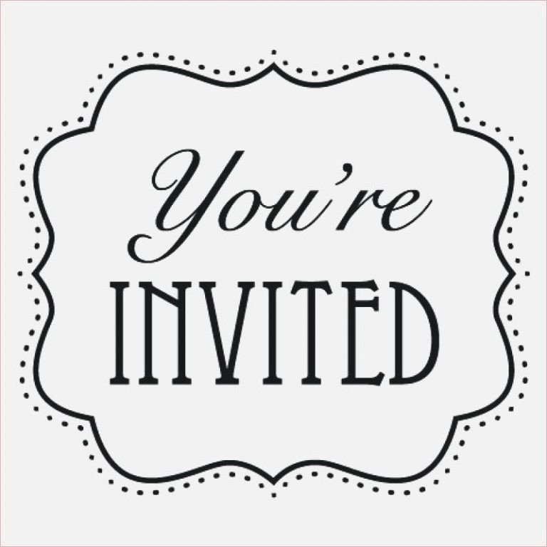 You are Invited Template You Re Invited Template