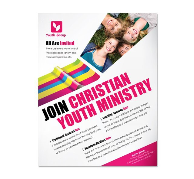 Youth Retreat Flyers Church Ministry & Youth Group Flyer Template Dlayouts